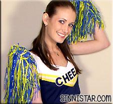 sinnistar hailey young cheerleader